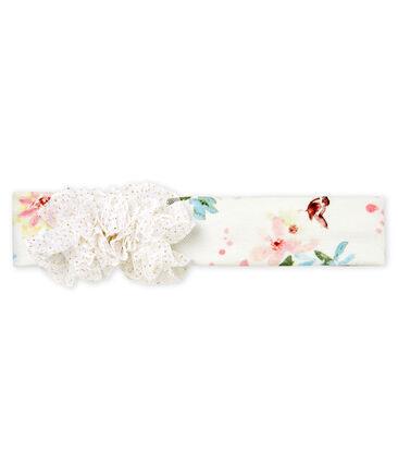 Baby-haarband mit pompons mädchen weiss Marshmallow / weiss Multico