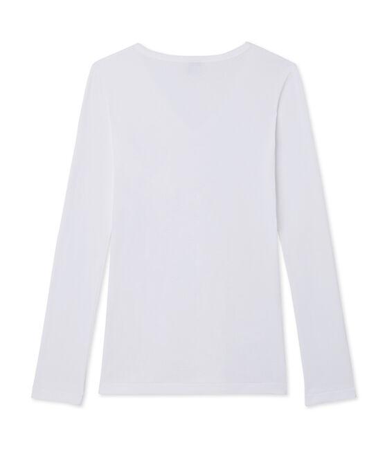 Emblematisches langärmliges T-Shirt für Damen weiss Ecume