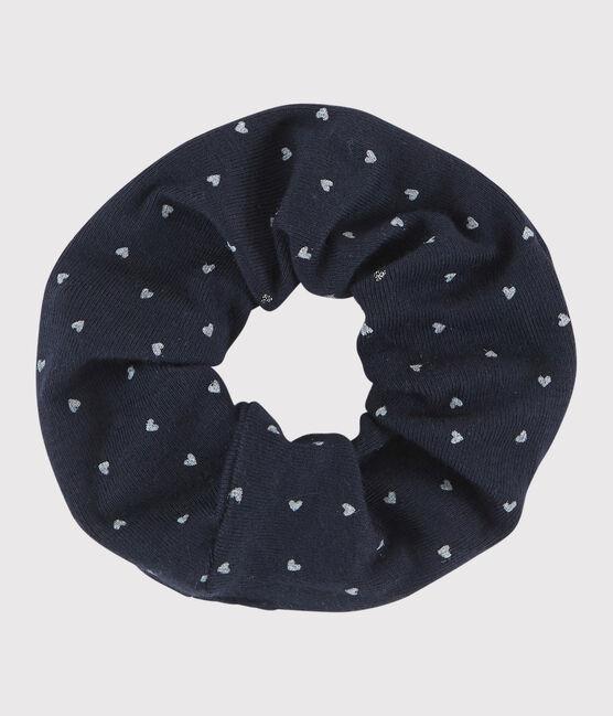 Kinder-Haargummi für Mädchen blau Smoking / weiss Multico