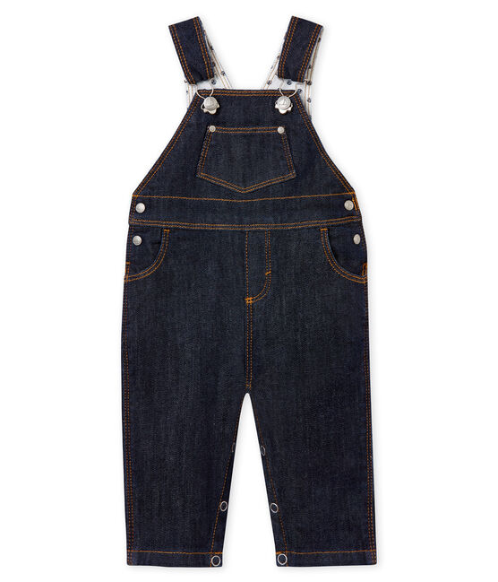 Lange Baby-Jeans-Latzhose, Unisex blau Jean