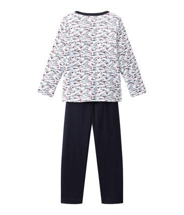 Jungen-Schlafanzug mit Tunikakragen