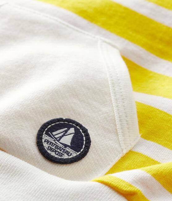 Baby Jungen Sweatshirt gestreift weiss Marshmallow / gelb Shine