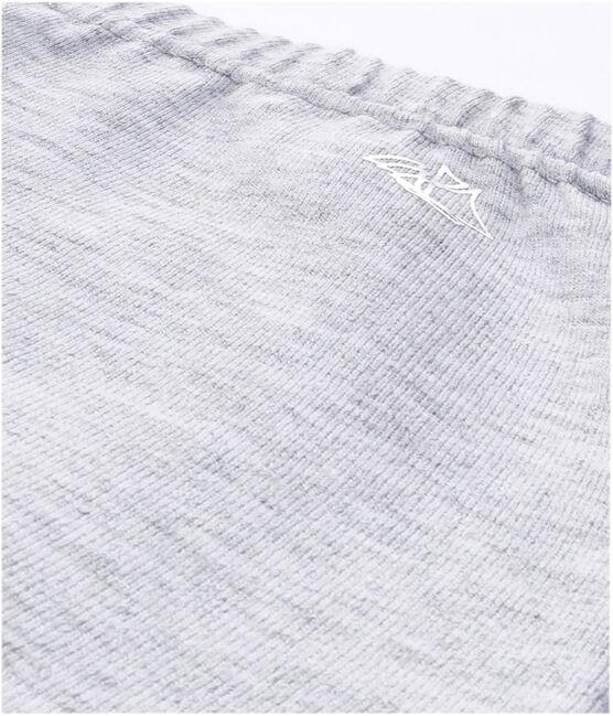 Mädchen-Leggings aus einfarbigem Stretch-Jersey grau Poussiere