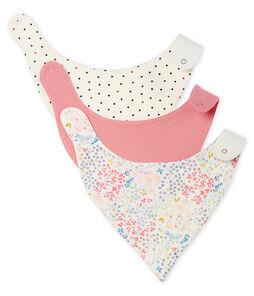 Dreier-Set Baby-Lätzchen aus Rippstrick für Mädchen lot .