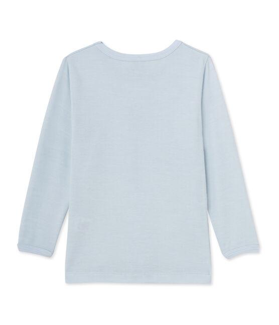 Jungen-T-Shirt aus Wolle/Baumwolle blau Fraicheur