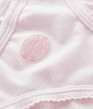 Unterhose für kleine Mädchen rosa Pearl / weiss Multico
