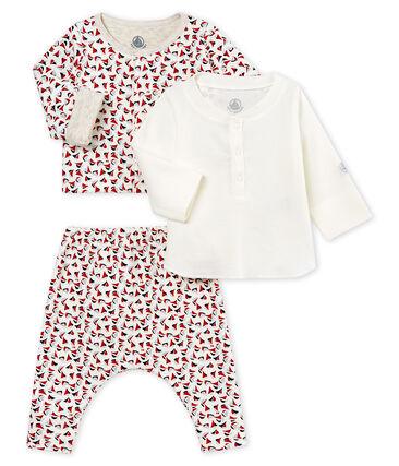 3-Eiliges gemustertes baby-set für jungen