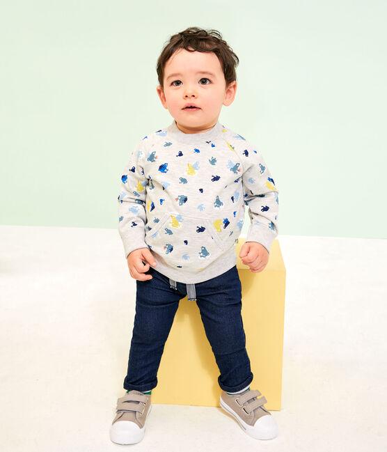 Baby-Hose für Jungen in einfarbigem Molton SMOKING