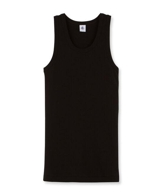 Tanktop Damen einfarbig schwarz Noir