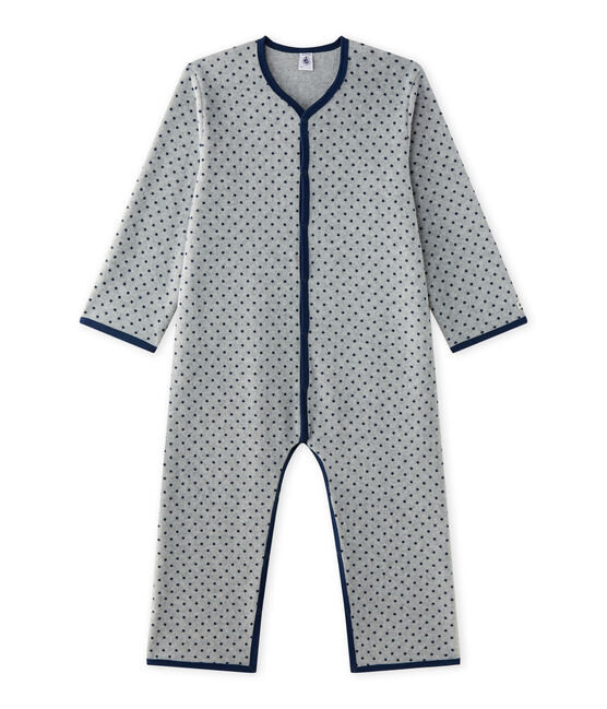 Jungen-Overall aus Fleece grau Subway / blau Medieval