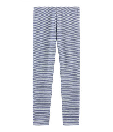 Warme Leggings für Damen blau Medieval / weiss Marshmallow