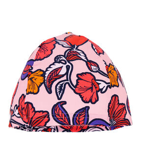 Bademütze für Mädchen mit UV-Schutz und LSF 50+ rosa Patience / weiss Multico