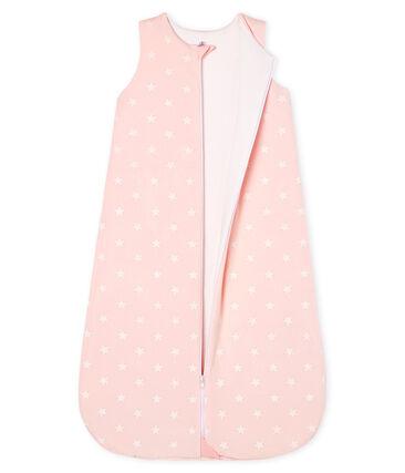 Babyschlafsack aus Nicki für Mädchen rosa Minois / weiss Marshmallow