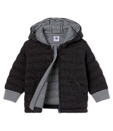 Baby-Jacke aus gestepptem Doppeljersey mit Reißverschluss für Jungen grau City Chine