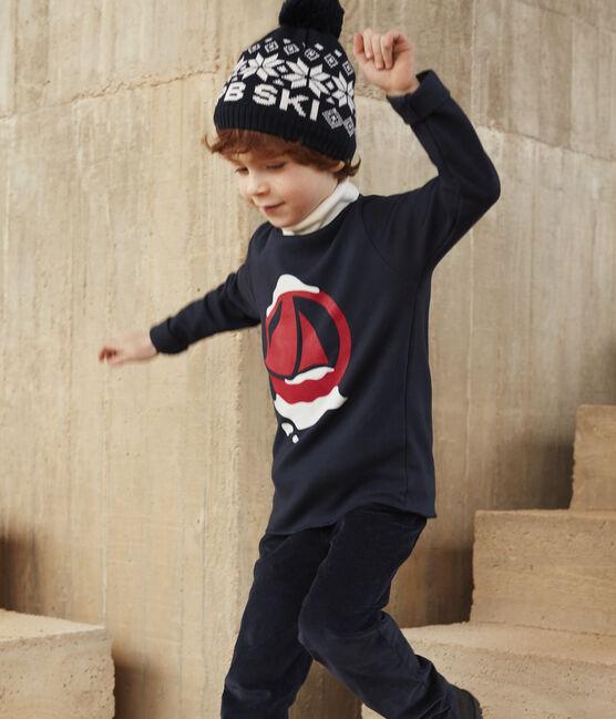 Kinder-Skimütze für Mädchen und Jungen blau Smoking / weiss Marshmallow