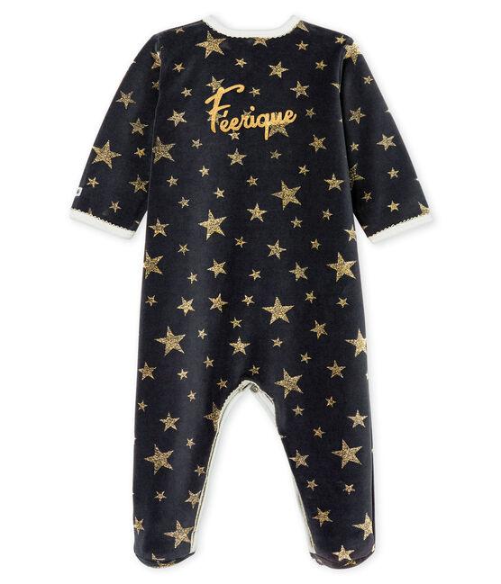Baby-Strampler aus Nicki für Mädchen grau Capecod / gelb Or