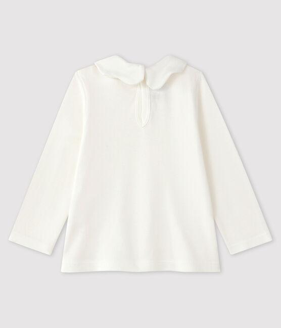 Langärmelige Baby-Bluse für Mädchen weiss Marshmallow