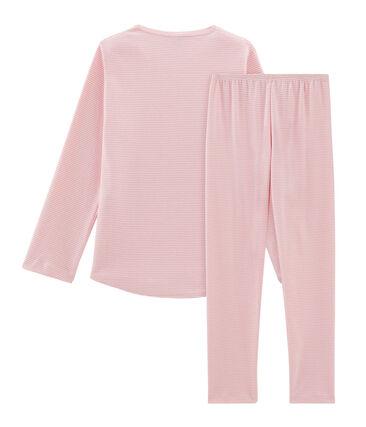 Rippstrick-Pyjama für Mädchen