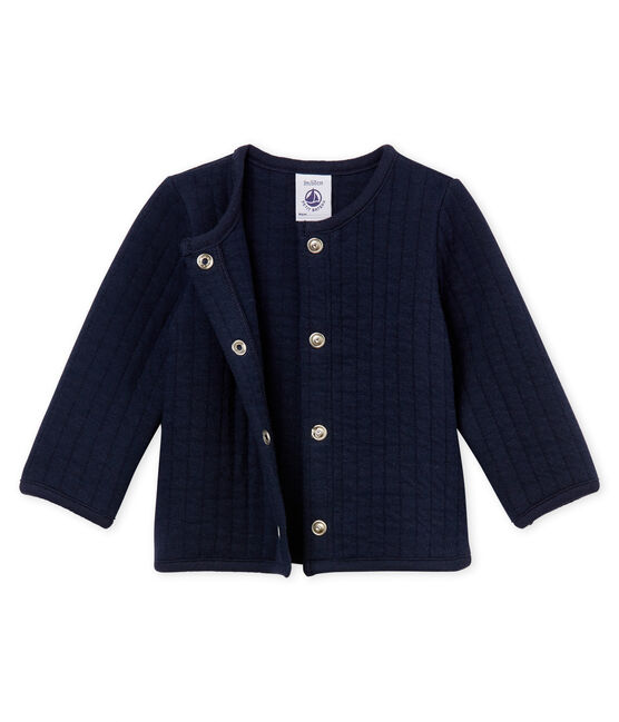 Baby-cardigan aus gestepptem doppeljersey mädchen blau Smoking