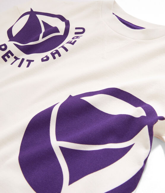 Kinder-Sweatshirt für Jungen - Mädchen weiss Marshmallow