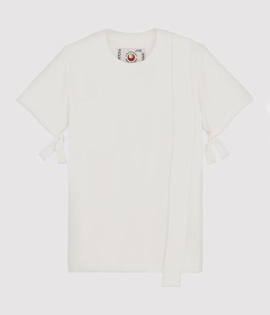 T-Shirt für Damen/Herren Christoph Rumpf x Petit Bateau weiss Marshmallow