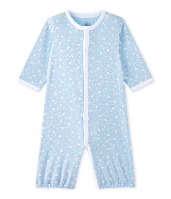 Unisex-Baby-Overall mit 2-in-1-Effekt blau Toudou / weiss Ecume