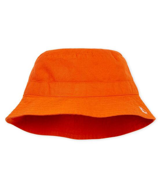 Baby-fischerhut aus twill jungen orange Carotte