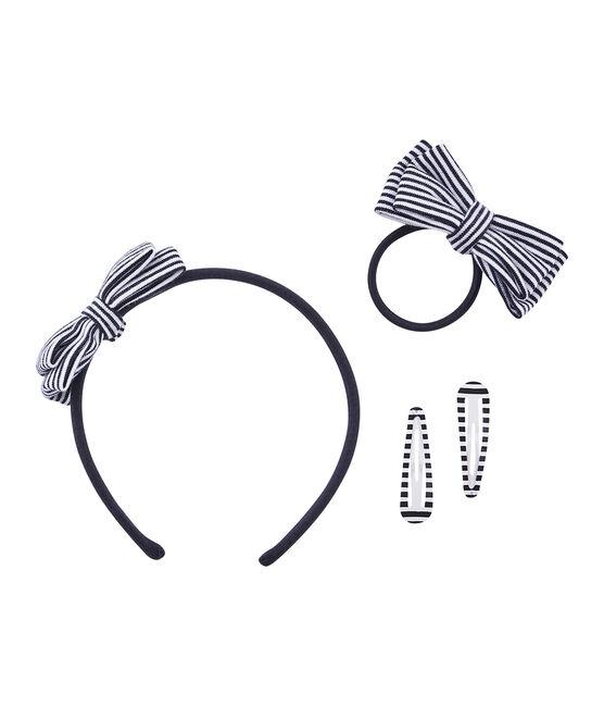 Set Haar-Accessoires für Mädchen blau Smoking / beige Coquille