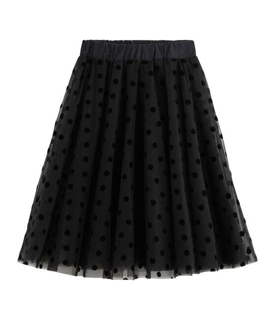Rock aus Tüll für Damen schwarz Noir