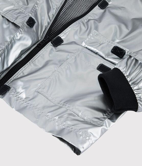 Silberfarbene Kinder-Regenjacke für Mädchen/Jungen grau Argent