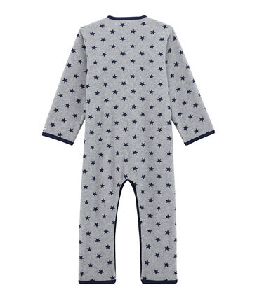Fleece-Overall für Jungen grau Subway / blau Logo