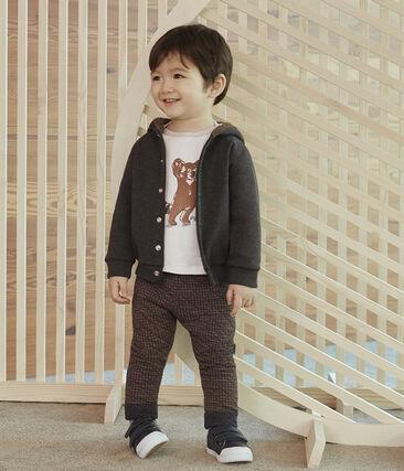 Baby-Hose aus Doppeljersey in Hahnentrittmuster für Jungen