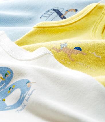 Trio ärmellose Baby-Bodys für Jungen