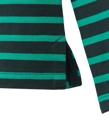 Unisex-Streifenshirt grün Sherwood / grün Pivert