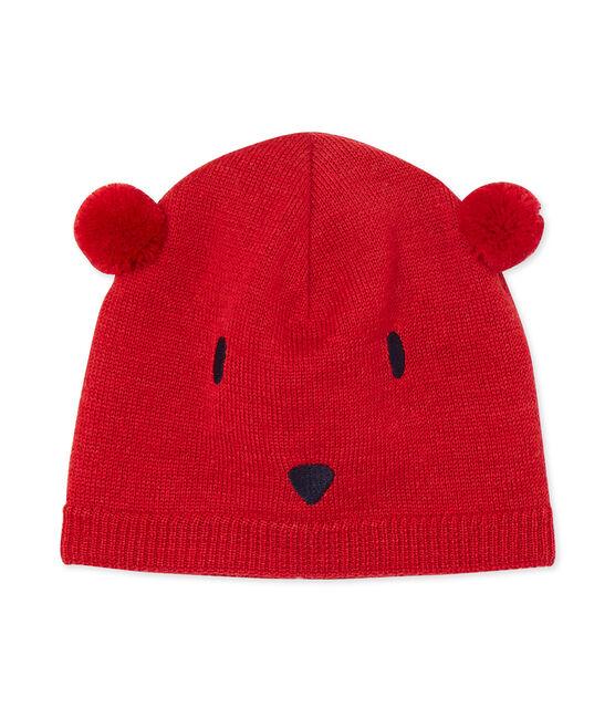 Unisex Baby Mütze rot Froufrou