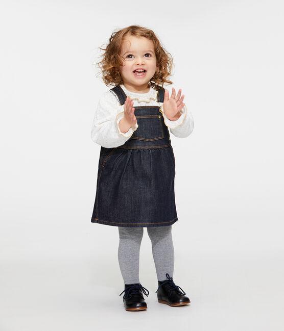 Baby-Jeanslatzkleid Mädchen blau Jean