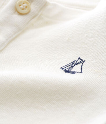Langärmeliges baby-t-shirt aus baumwolle leinen jungen