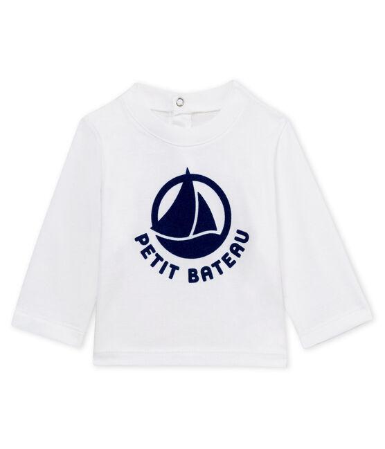 Langärmeliges Unisex-T-Shirt für Babys, beflockt weiss Marshmallow