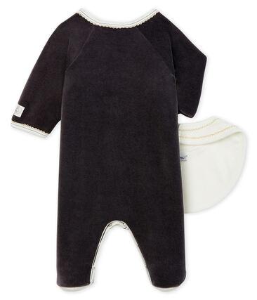 Set mit einem Strampler und einem Baby-Lätzchen aus Samt lot .