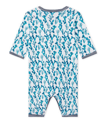 Baby-Jungen-Strampler ohne Fuß mit Kaktus-Print