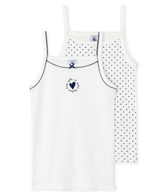 2er-Set Trägerhemden mit Sternchen-Muster für kleine Mädchen lot .