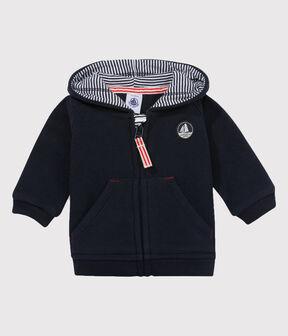 Baby-Sweatshirt aus Fleece für Jungen blau Abysse