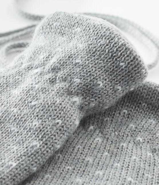 Baby-Fäustlinge, unisex, mit Fleecefutter grau Subway / weiss Marshmallow