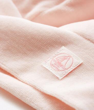 Babymützchen für Neugeborene aus Samt rosa Fleur