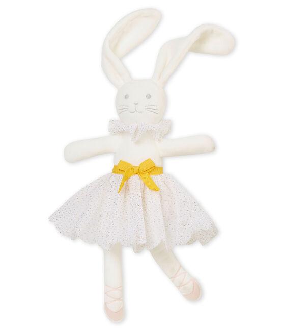 Kuschelhase im Ballerina-Look weiss Marshmallow / gelb Dore