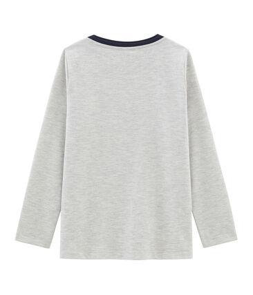 Langärmliges T-Shirt für Jungen grau Beluga