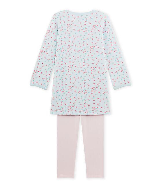 Mädchen-Nachthemd aus Velours-Frottier rosa Vienne / blau Bocal