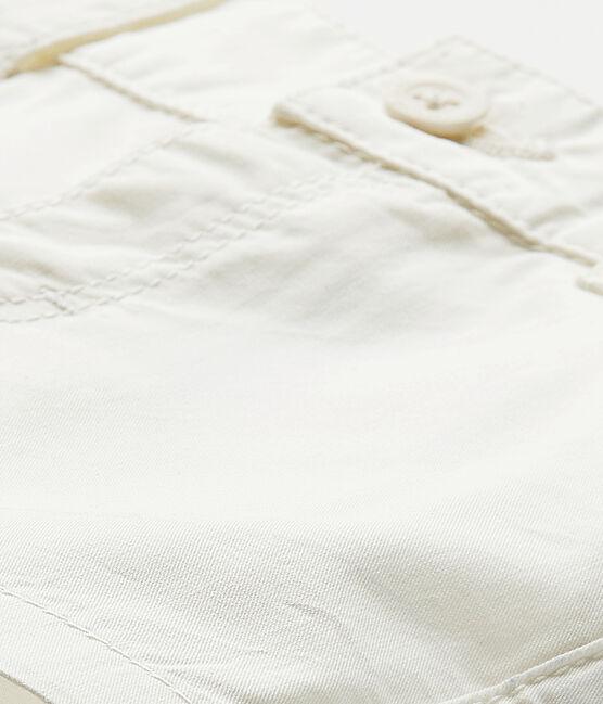 Baby-Jungen-Shorts aus Baumwolle weiss Marshmallow