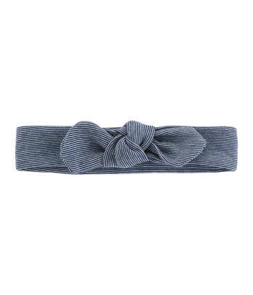 Haarband für Mädchen weiss Marshmallow / blau Smoking