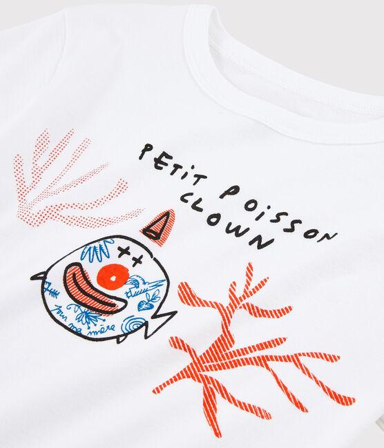Serge Bloch T-Shirt für Kinder weiss Ecume
